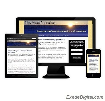 A responsive mobile website can adjust to various screen sizes, such as a desktop computer, a laptop, a tablet or a cell phone and not just shrinking in size, but by adjusting and rearranging sections