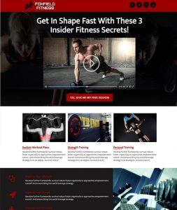Foxfield Fitness website mockup