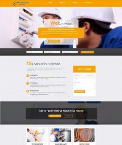 MKP Electrical webiste mockup