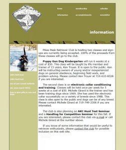 Pikes Peak Retriever Club website