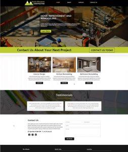 Rocky Mtn Consttruction website mockup