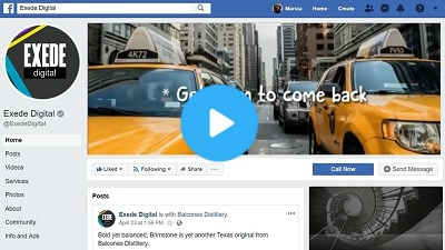 Facebook header video for Exede Digital