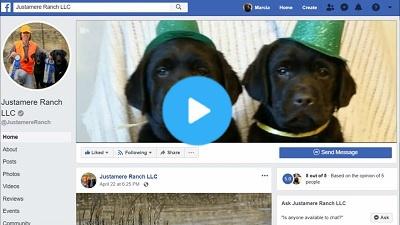 Facebook header video for Justamere Ranch