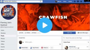 Facebook header for Flaming Joe's Seafood