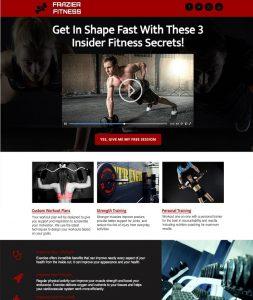 Frazier Fitness website mockup